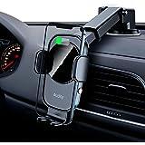 Auckly 15W 車載ワイヤレス充電器 【QI認証済み】 車載ホルダー 電磁誘導自動開閉 片手操作 粘着ゲル吸盤 急速充電 携帯ホルダー 車 スマホホルダー 360度回転 iPhone 12 mini Pro Max 11 / 11 Pro/Ma