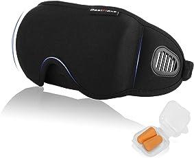睡眠アイマスク BestMaxs 安眠 低反発 立体型 遮光 通気 圧迫感なし究極の柔らか質感 軽量 旅行 仮眠 眼精疲労 疲労回復 耳栓付き 最新