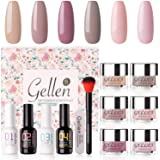 Gellen Dip Powder Nail Starter Kit 6 Colors - Dipping Powder Acrylic Dipping System Essential Tools, No Nail Lamp Needed Quic