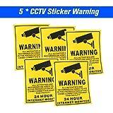 5pcs/lot Safurance Waterproof Sunscreen PVC CCTV Video Surveillance Security Camera Alarm Sticker 24 Hour Monitor Camera Warn