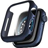 PZOZ Apple Watch 6/SE/5/4 ケース 保護フィルム アップルウォッチ6 カバー 全面保護 耐衝撃 PC アクセサリー 対応 (44mm, ブルー)