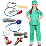 Dissytoys Doctor Surgeon Costume Kids Role Play Costume Doctor Fancy Dress Accessories Set Green