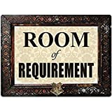 Uptell Room of Requirement Metal Wall Sign Plaque Funny Home Coffee or Pub Decor - 8x12 inch
