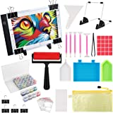 (59PCS) Diamond Painting A4 LED Light Pad Kit,DIY Dimmable Light Brightness Board,LED Artcraft Tracing Light Table,Reusable A