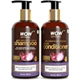 WOW Skin Science Red Onion Black Seed Oil Shampoo & Conditioner Kit With Red Onion Seed Oil Extract, Black Seed Oil & Pro-Vit