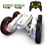 DEERC ラジコンカー RCカー スタントカー こども向け 室内 360度回転 両面走行 ジャンプ 車おもちゃ オフロ…