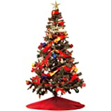 クリスマスツリー セット180㎝ LEDイルミネーションライト オーナメント付き (LEDライト:ミックス色)