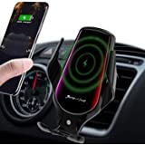 Lukkahh R3 Wireless Car Charger Mount,Auto-Clamping Air Vent Phone Holder,10W Qi Fast Car Charging,Compatible iPhone 11/11 Pr