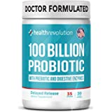 Health Revolution Probiotics 100 Billion for Women and Men - Organic Shelf Stable Probiotic for Digestive Health, Vegan - 30