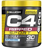 C4 Ripped Sport Pre Workout Powder Arctic Snow Cone - NSF Certified for Sport + Sugar Free Preworkout Energy Supplement for M