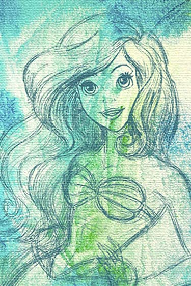 ディズニー  iPhone/Androidスマホ壁紙(640×960)-1 - アリエル