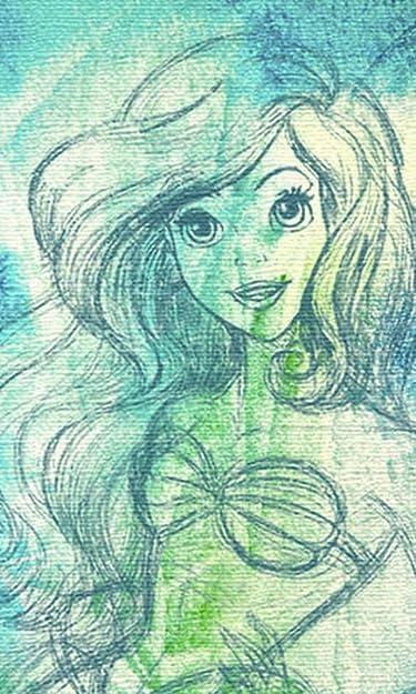 ディズニー  iPhone/Androidスマホ壁紙(480×800)-1 - アリエル