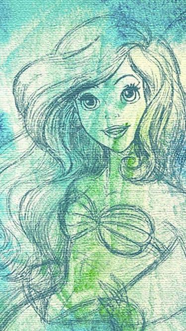 ディズニー  iPhone/Androidスマホ壁紙(540×960)-1 - アリエル