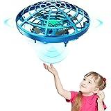 DEERC ドローン こども向け おもちゃ ラジコン ヘリコプター ドローン UFO ミニドローン ジェスチャー制御 室内 ハンドコントロール 五つのセンサーが搭載 360度回転 自動回避障害機能 自動ホバリング 2段階スピード調整 LEDライト付き
