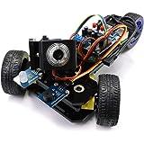 Freenove Three-Wheeled Smart Car Kit for Raspberry Pi 4 B 3 B+ B A+, Robot Project, Tutorial and Code, APP Control, Live Vide