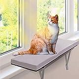 猫窓用ベッド ウインドウベッド キャットソファー ふわふわマット付き 折りたたみ可能 取り付けタイプ 窓際ペットベッド…