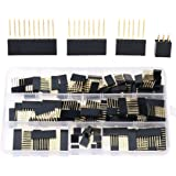 Hilitchi 110pcs 6/8/10/Double Row 3-Pins 2.54mm Arduino Stackable Shield Header Assortment Kit