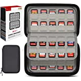 sisma 80 Game Card Holders Storage Case for Nintendo Switch PS Vita Game Cartridges or SD Memory Cards, Black