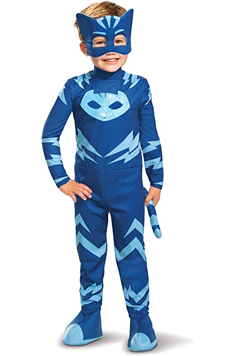 PJ Masks Toddler Boys Catboy Glow In the Dark Costume with 3D Ears and Detachable Tail