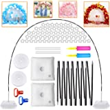 Balloon Arch Kits 10Ft Wide&9Ft Height Adjustable Balloon Stand with 2 Water Fillable Base, Balloon Stand with 85pcs Accessor