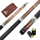 CUESOUL 58 inch 2-Piece Maple Billiard Stick Pool Cue 19 oz