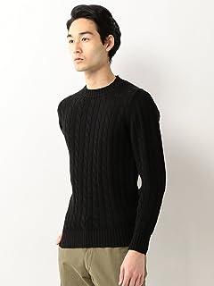 Cotton Cable Crewneck Sweater 1113-343-3880: Black
