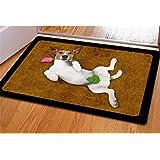 INSTANTARTS Jack Russell Terrier Printing Living Room Doormat Rubber Carpet Bathroom Area Rug