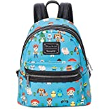 Loungefly x Toy Story Chibi Characters Allover-Print Mini Backpack, Multicolored (Blue) - WDBK0700
