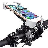 バイク用 スマホホルダー 自転車 スマホ ホルダー スタンド スマートフォン振れ止め 脱落防止 多機種対応 角度調整 脱…