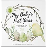 Baby First 5 Years Memory Book Journal - 90 Pages Hardcover First Year Keepsake Milestone Newborn Journal For Boys, Girls - A
