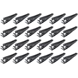 Stainless Steel Nail Clippers- 24-Pack Mini Fingernail Toenail Cutters Trimmers, Manicure Pedicure Accessories, Grooming Tool