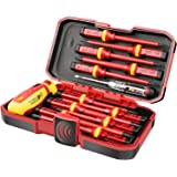 1000V Insulated Electrician Screwdriver Set, All-in-One Premium Professional 13-Pieces CR-V Magnetic Phillips Slotted Pozidri