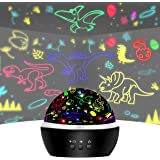 Night Light for Kids Dinosaur Toys for 3-8 Years Old Boys,Dino Boys Gifts for Age 4 5 6 7+ Car Toys for Kids Projector Lamp f