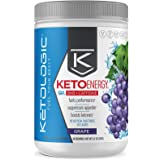 Ketologic KetoEnergy BHB with Caffeine, Grape | Beta-Hydrobutyrate Salts Ketone Powder Supplement | Supports Low-Carb, Keto D