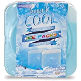 RINBOTTLE Ice Packs for Lunch Box Slim Reusable Freezer Dry Ice Pack for Coolers Keep Cold and Fresh for Outdoor Camping Picn
