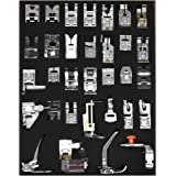 Renashed Professional 32 Pcs Domestic Sewing Presser Foot Kit Presser Walking Foot Kit for Brother, Singer, Babylock, Janome,