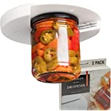 Bellemain's ユニバーサル アンダーキャビネット ジャーオープナー カウンター下缶オープナー [2パック] プレミアム蓋グリッパーとオープナー 関節炎や高齢者に最適 簡単取り付け