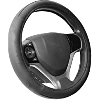 SEG Direct ハンドルカバー 自動車用ステアリングカバー マイクロファイバー革 Sサイズ 外径35.5cm-36…