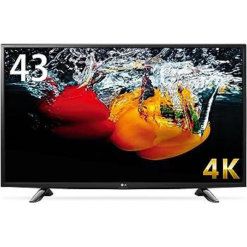 LG 43V型 液晶 テレビ  43UH6100 4K対応 HDR対応 IPS4Kパネル 直下型LEDバックライト スリムボディ Wi-Fi内蔵 外付けHDD録画対応  2016年モデル