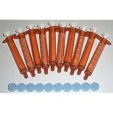 BAXA ExactaMed Oral Liquid Medication Syringe 3cc/3mL 10/PK Amber Medicine Dose Dispenser With Cap Exacta-Med BAXTER Comar La