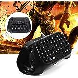 Salinr PS4 ワイヤレス チャットパッド ワイヤレスキーボード コントローラーキーボード メッセージ PS4コントローラーに対応 PS4用ミニゲーミングキーボード Bluetoothキーボード 充電式