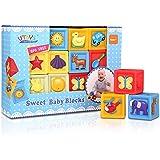 Bemixc 音の出る積み木 10pcs 赤ちゃんおもちゃ 知育玩具 出産お祝い お誕生プレゼント