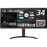 LG モニター ディスプレイ 34WP550-B 34インチ/21:9 ウルトラワイド(2560×1080)/HDR/IPS 非光沢/FreeSync/75Hz/HDMI×2/高さ調節