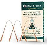 The Legend Ayurveda Heavenly Copper Tongue Cleaner or Scraper (Pack of 3)
