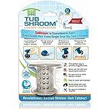 TubShroom the Revolutionary Tub Drain Protector Hair Catcher Drain Strainer, Gray