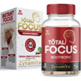 AZOTH Total Focus Supplement - for Focus, Energy, Attention & Concentration | with Zynamite, Rhodiola Rosea, PurCaf (Organic