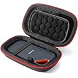 Hard Travel Case for SanDisk Extreme PRO 1TB / 2TB/ 250GB / 500GB Extreme Portable SSD, Carrying Storage Bag - Black(Black Li