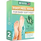 Tea Tree Foot Peel Mask - For Cracked Heels, Dead Skin and Calluses - Make Your Feet Baby Soft Get Smooth Silky Skin - Remove