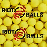 100 X 0.68 Cal. PVC/Nylon Riot Balls Self Defense Less Lethal Practice Paintball