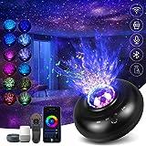 WiFi Star Night Light Projector Hueliv Smart Galaxy Light Projector Sky Nebula/Ocean Wave with Bluetooth Speaker/ Remote&Voic